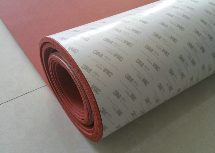 High Temperature Resistant Red Silicone Rubber Sheet With